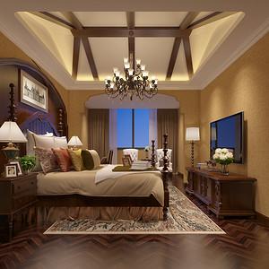 兰桂花园美式风格卧室
