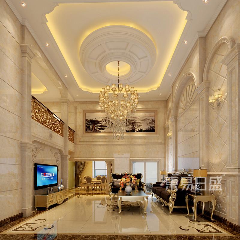 欧式古典 - 客厅装修效果图 欧式古典复式楼装饰