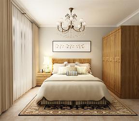 华贸公园郡新中式卧室装修效果图