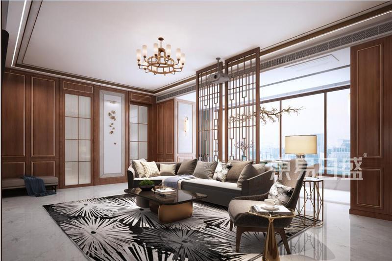 梧桐苑 新中式装修效果图 三室两厅一厨 120平米