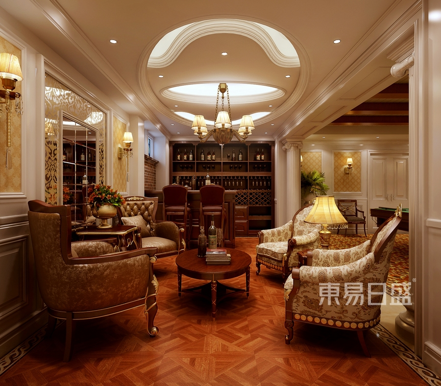 南城欧式古典风格会议室装修效果图