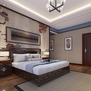 四房二厅新中式主卧室装修效果图