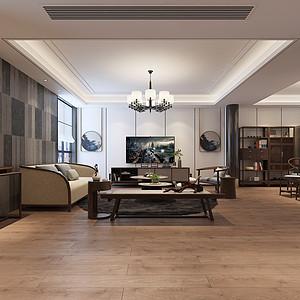金水分局家属院新中式风格160平米平层