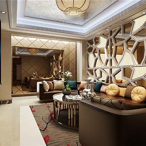 水木清华现代轻奢客厅装修效果图