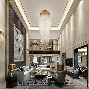 广州富力桃园装修案例 230㎡现代轻奢五房二厅装修效果图