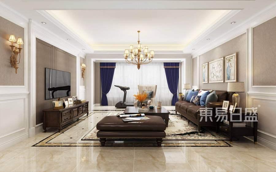 四居室-现代美式-效果图