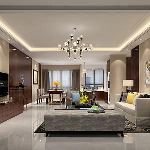 客厅装修效果图-香山美墅装修设计方案