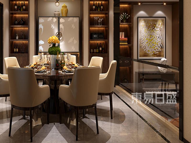 江南一品餐厅后现代别墅别墅装修效果图左右的一百万风格图片
