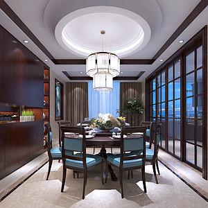 汇金国际500平米中式风格别墅餐厅