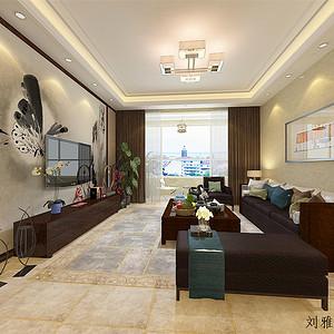 富力半岛-新中式风格-137平米