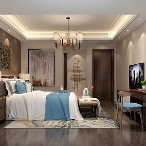 卧室装修效果图-香山美墅装修设计方案