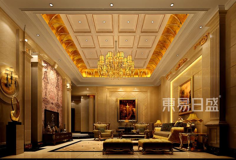 客厅欧式古典装修效果图效果图_装修效果图大全2018