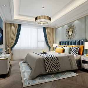 之江九里现代轻奢风格卧室
