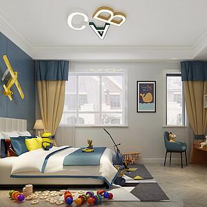 现代简约风格儿童房装修设计