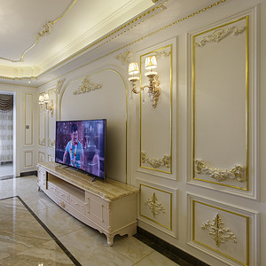 法式风格客厅电视背景墙