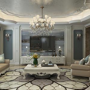 新古典风格-客厅-装修效果图