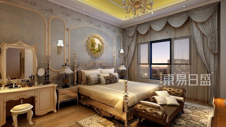 535㎡别墅美式混搭风格卧室装修效果图