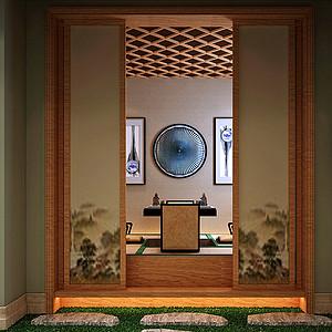 金地铂悦_新古典_22负一层榻榻米室