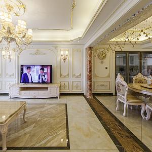 法式风格客餐厅分隔