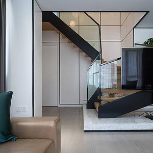 玉海首府184平现代简约设计装修效果图-楼梯