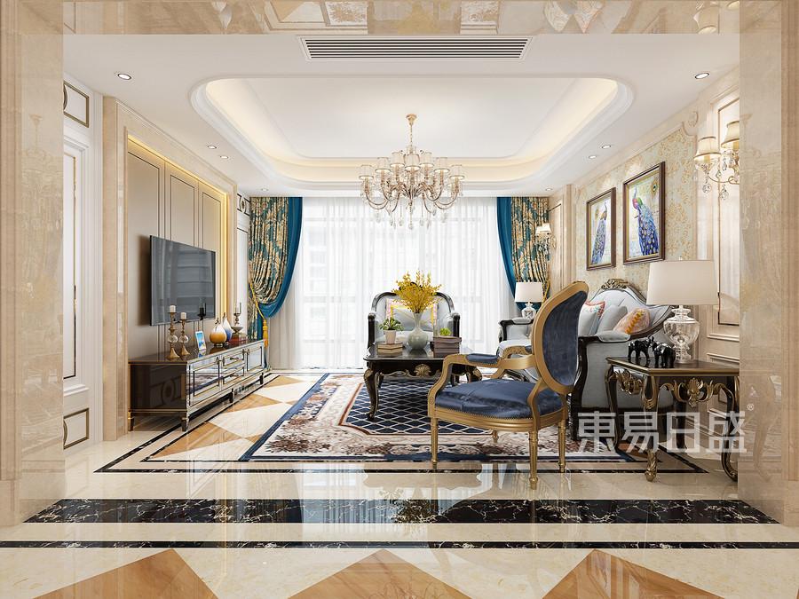 三居室-欧式古典-效果图