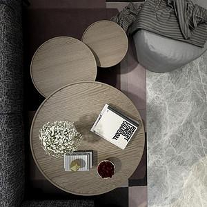 现代轻奢客厅效果图