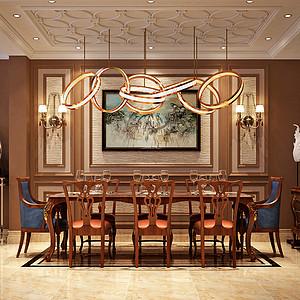 金地铂悦_新古典_223平一层餐厅