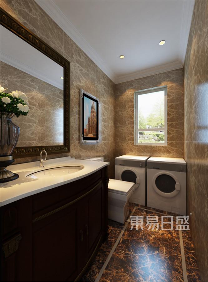 团泊湖别墅-美式风格-卫生间装修效果图