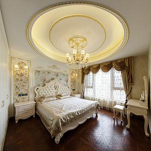 法式风格卧室全景