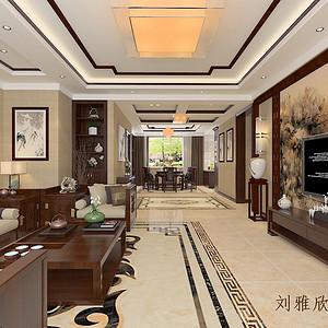 滨河湾-新中式风格-168平米