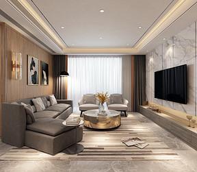 大华南湖公园世家客厅装修效果图