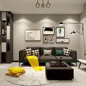 海马五期现代简约风格90平方两室两厅