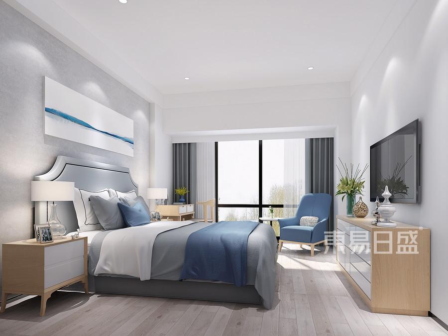 北欧极简风格-卧室装修效果图
