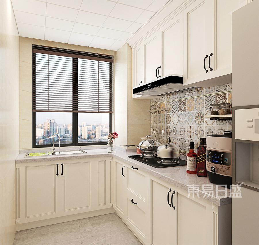 129平米天山熙湖现代美式风格厨房装修效果图