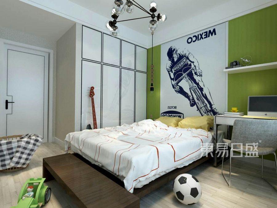 保利香槟国际143平四室两厅现代简约风格儿童房装修效果图@太原东易日盛
