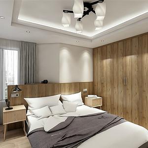 北欧风卧室:采用轻素色调
