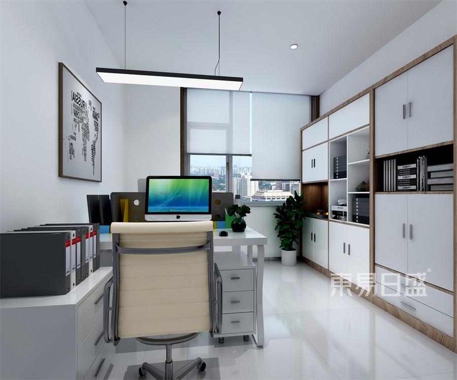 会所-新中式-双人办公室-效果图效果图_2019装修案例