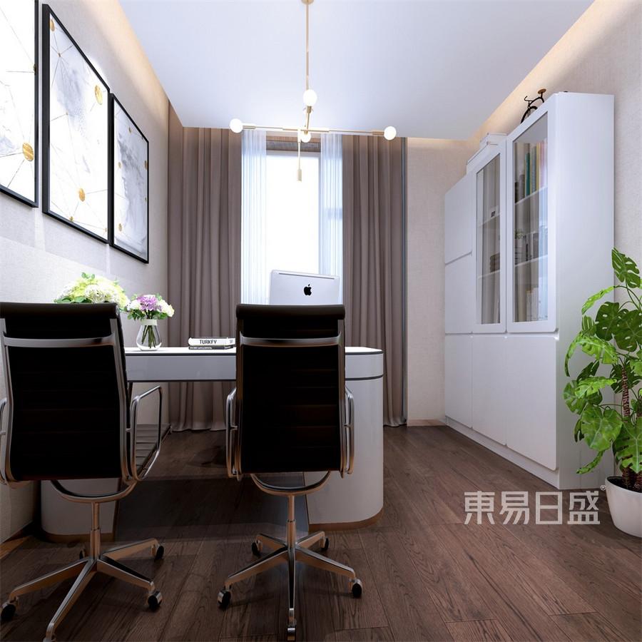 会所-新中式-经理办公室-效果图效果图_2019装修案例
