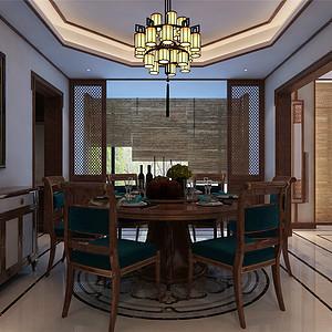 熙和园新中式风格餐厅装修效果图
