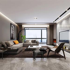 客厅功能性设计,线条简约流畅