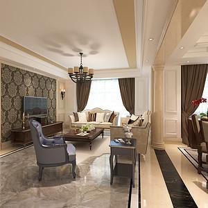 简美风格客厅