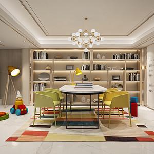 书房装修效果图-别墅装修设计方案