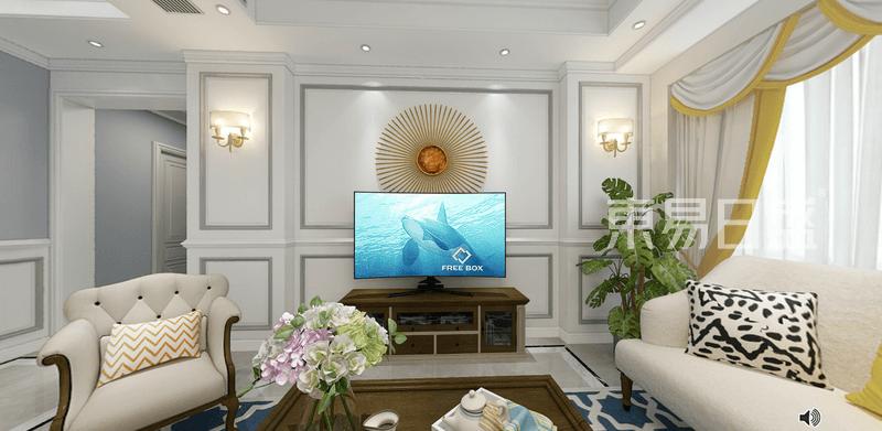 现代美式家装电视背景墙