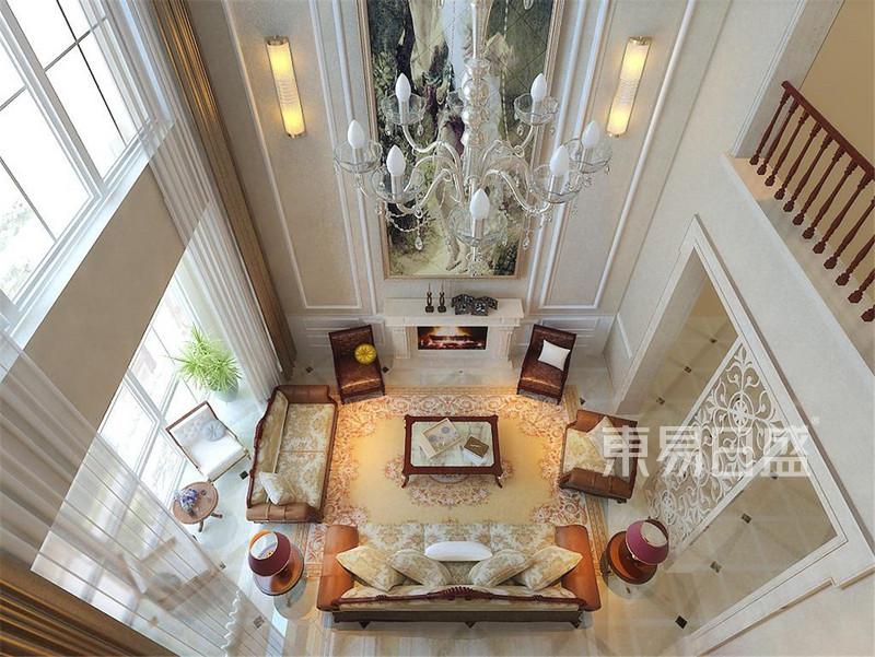 广顺后现代城新古典客厅装修效果图