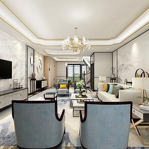 蓝光雍锦园400㎡别墅新中式风格