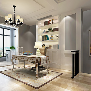 现代简约风格书房装修设计