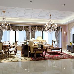 龙湖紫宸143㎡四居室欧式风格