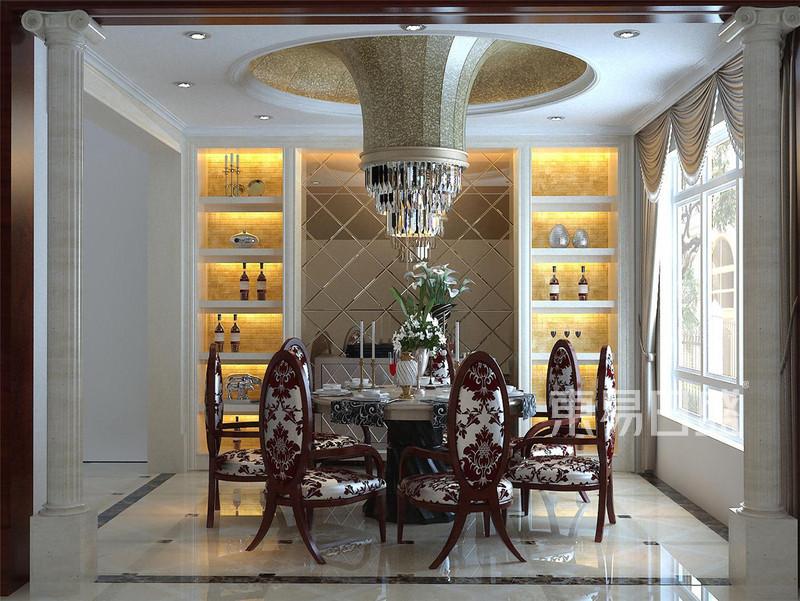 广顺后现代城新古典餐厅装修效果图