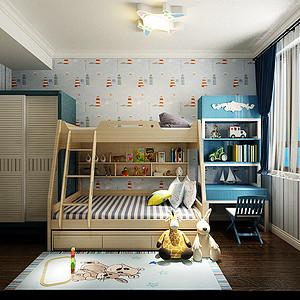 泰达河与海美式风格儿童房装修效果图