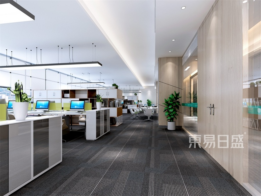 会所-新中式-办公区方案二-效果图效果图_2019装修
